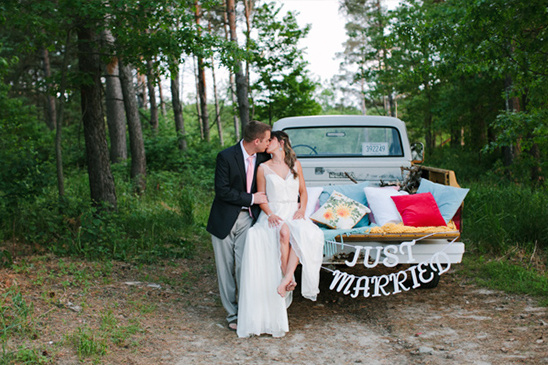 just married spot to lay under the stars