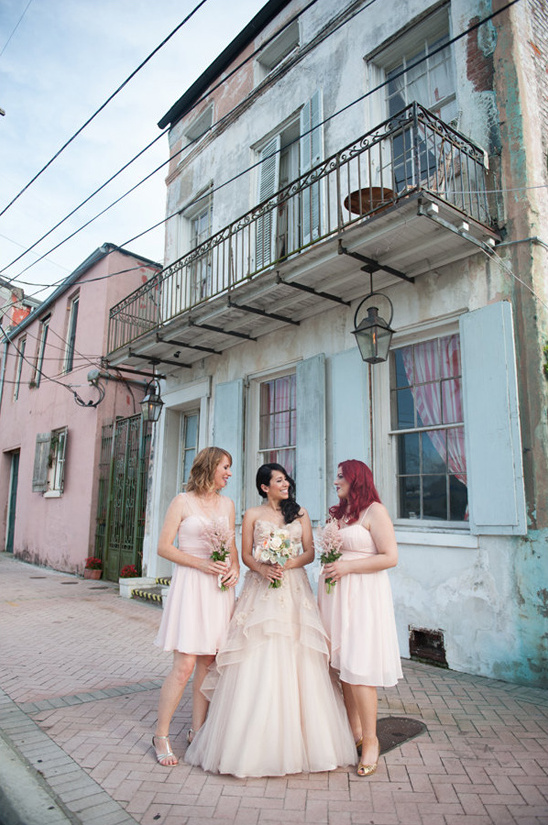 cocktail length bridesmaid dresses from BHLDN