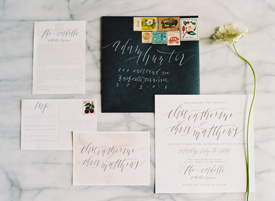 elegant calligraphy stationery