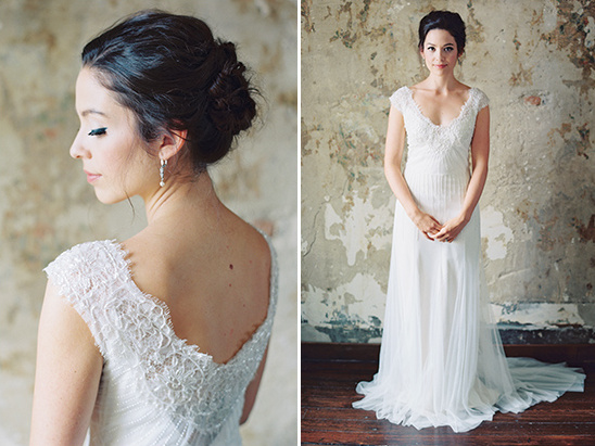 soft and simple wedding dress