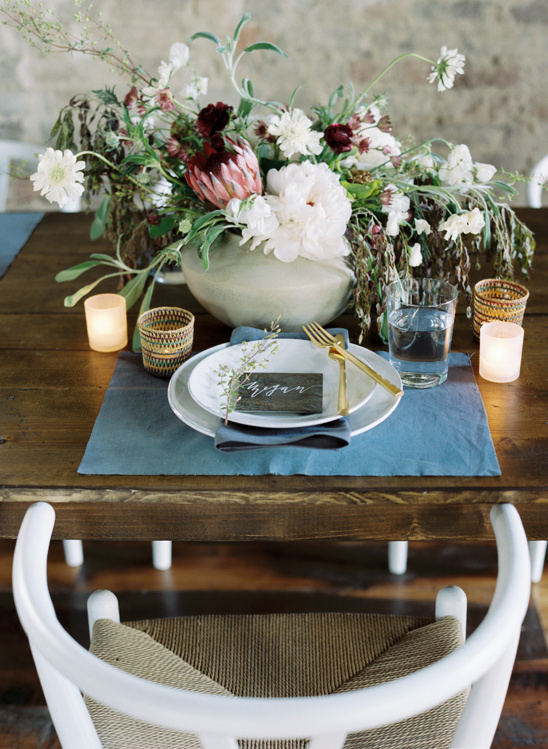 fresh and clean table setting