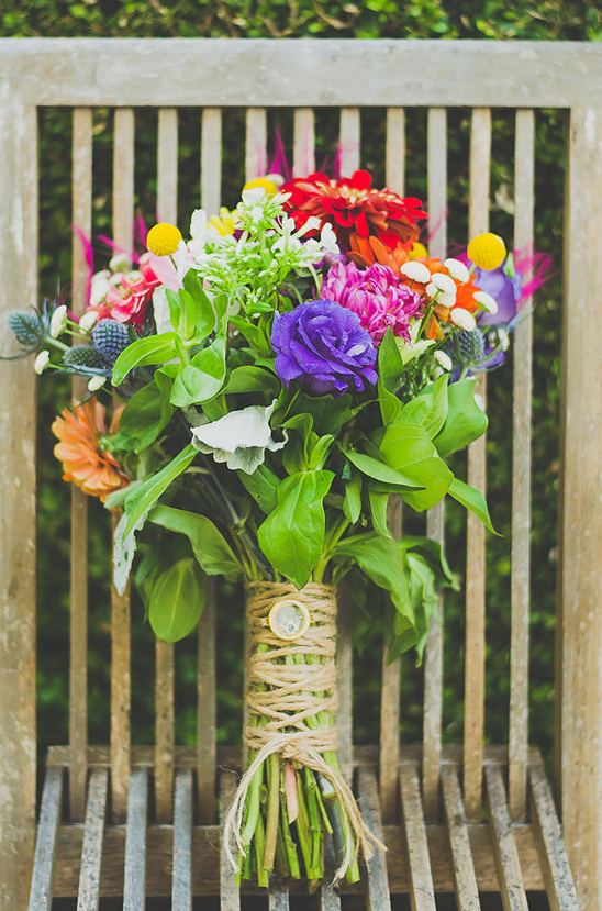 brightly colored bouquet from Kats Creations Floral Design