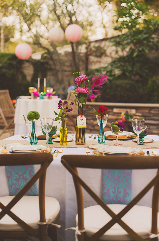 colorful wedding decor ideas