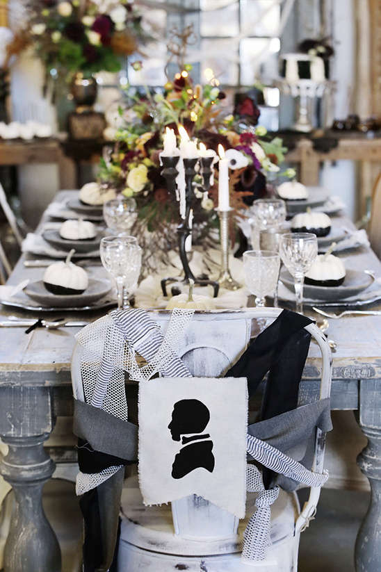 groom silhouette sweetheart chair banner