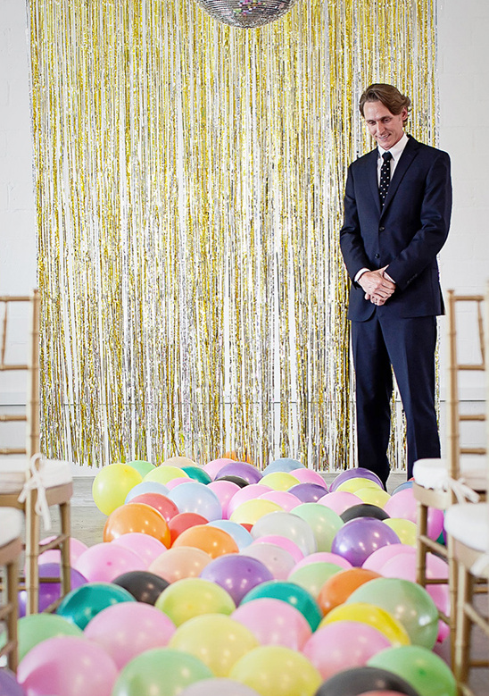 balloon aisle runner