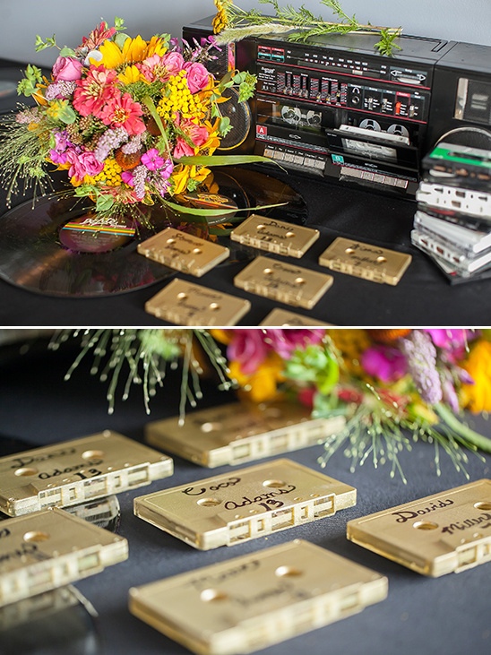 DIY tape deck escort cards
