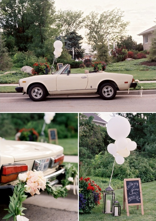 wedding wheels with bumper garland