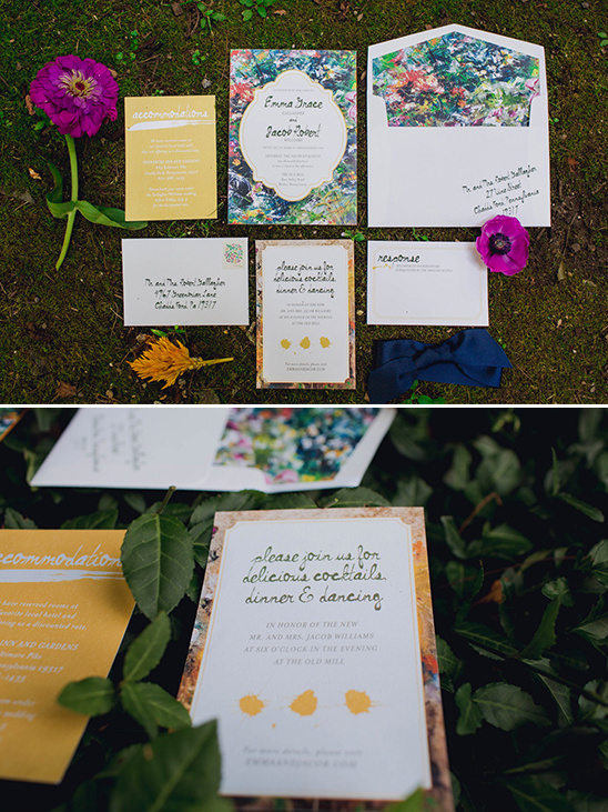 imressionist painting inspired stationery