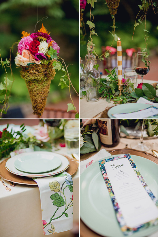 romantic garden table decor