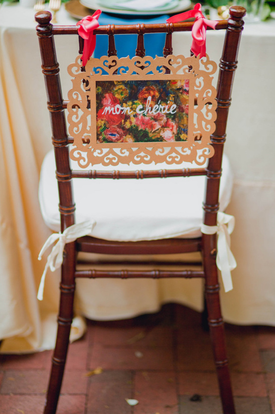 framed painting seat sign