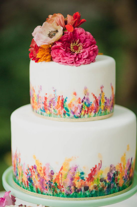 Renoir inspired painted cake by Cake Life Bake Shop