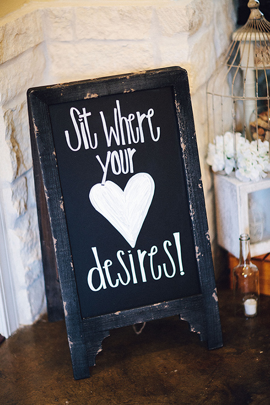 sit where your heart desires chalkboard