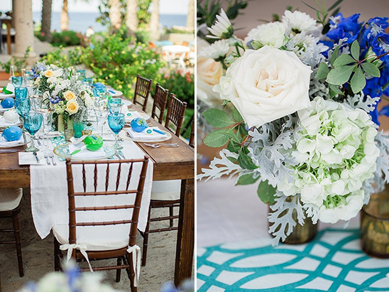 white and blue wedding ideas