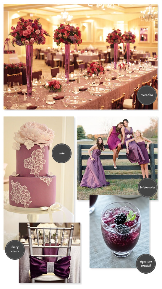 elegant purple wedding ideas