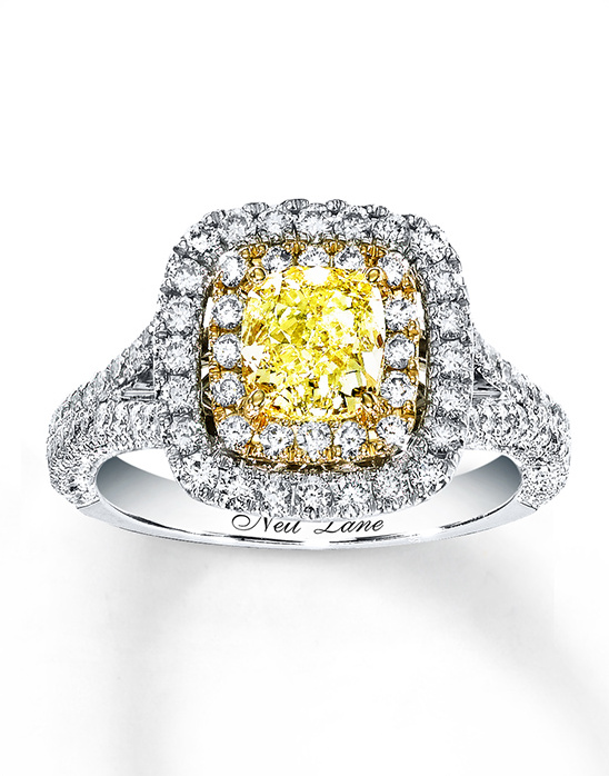 Neil Lane yellow diamond engagement ring
