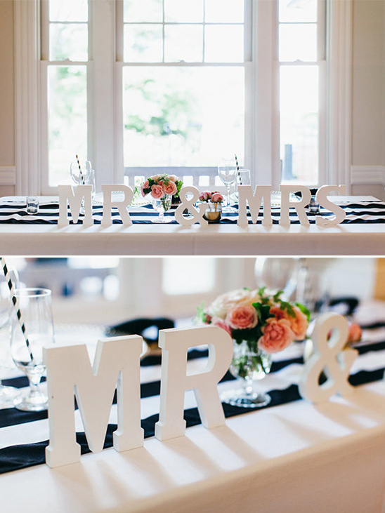 Mr and Mrs Signs for sweetheart table