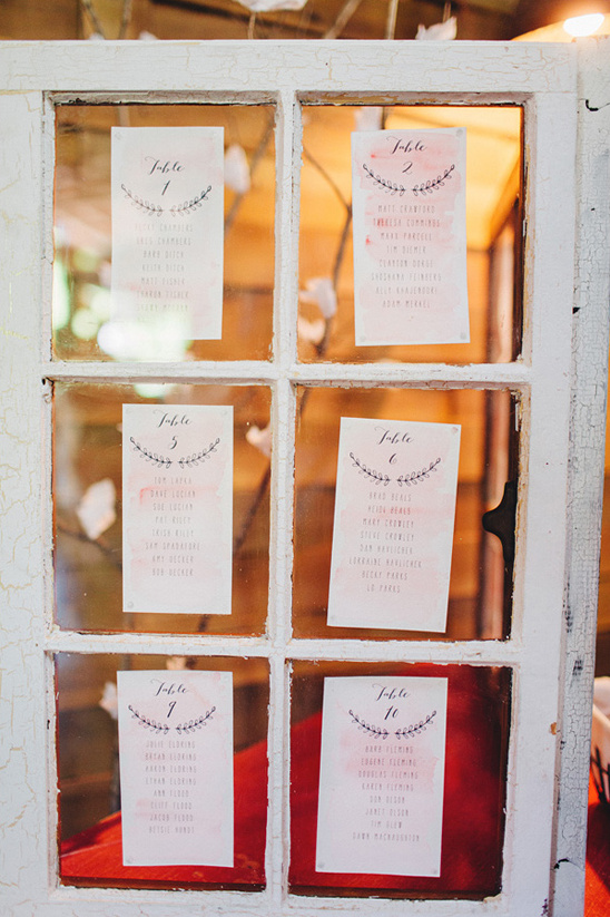 window frame seating assignment display