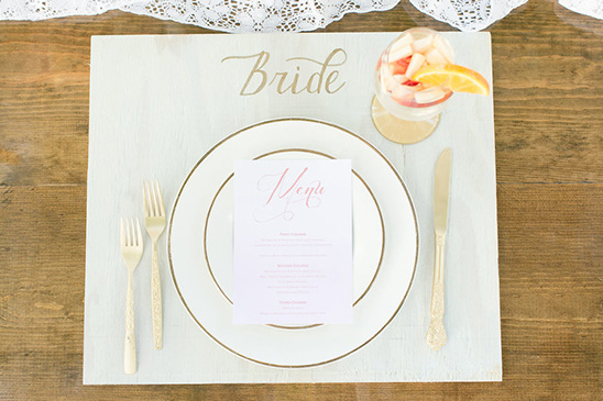 diy wood slat placemat with calligraphy