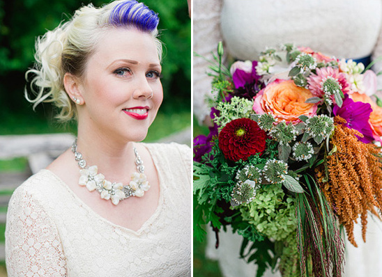 a mix of modern and vintage wedding attire