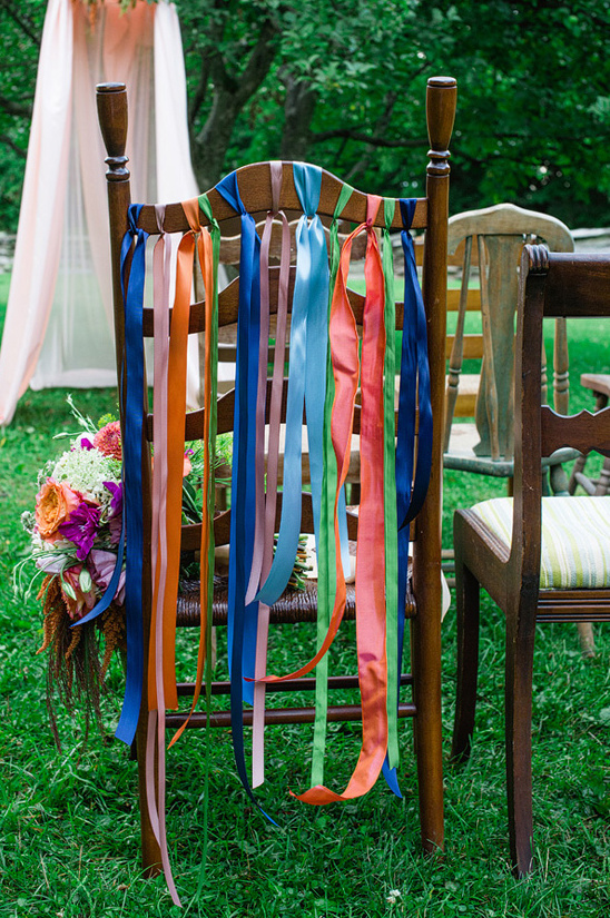 easy DIY ribbon chair decor