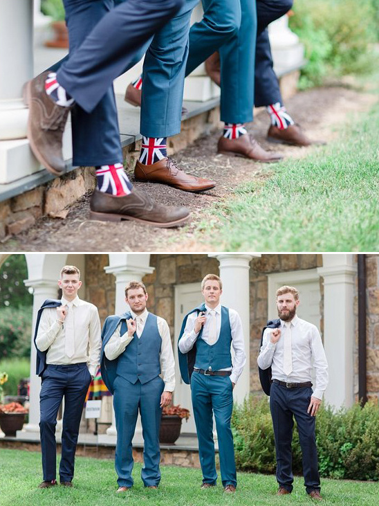 union jack groomsmen socks