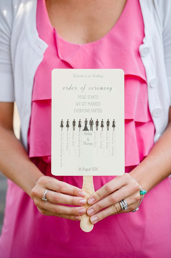 wedding program with wedding party infographic