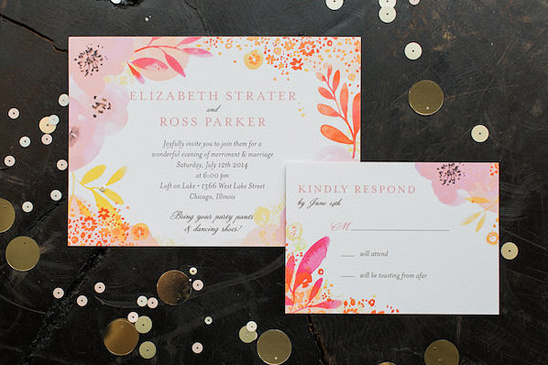 Clink A Paper Company wedding stationery