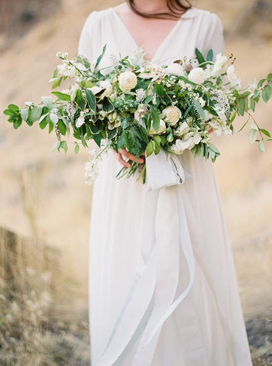 organic green wedding bouquet