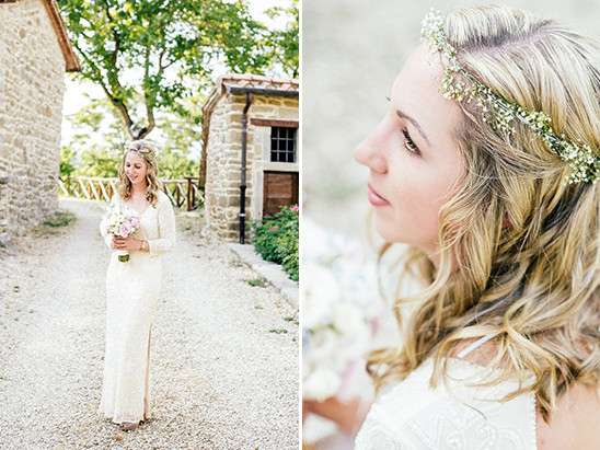 boho chick bridal look