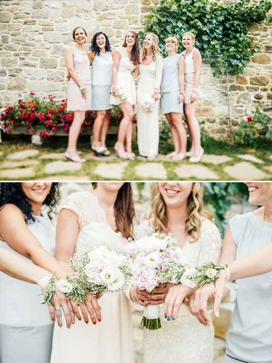 pastel bridesmaids look