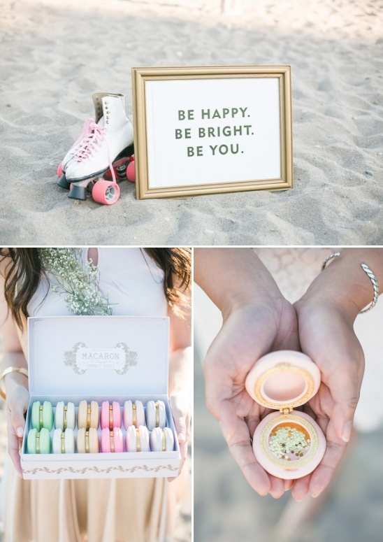 cute sign and macaron shaped lockets
