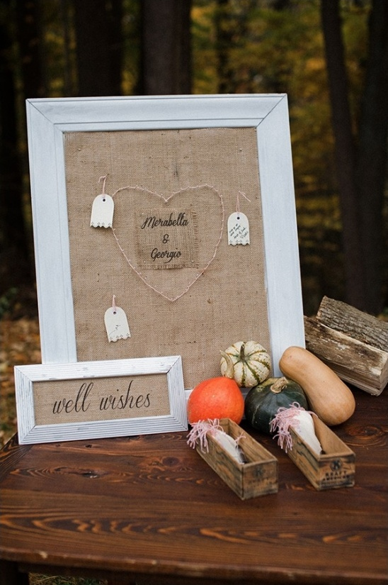 wedding well wishes pin board