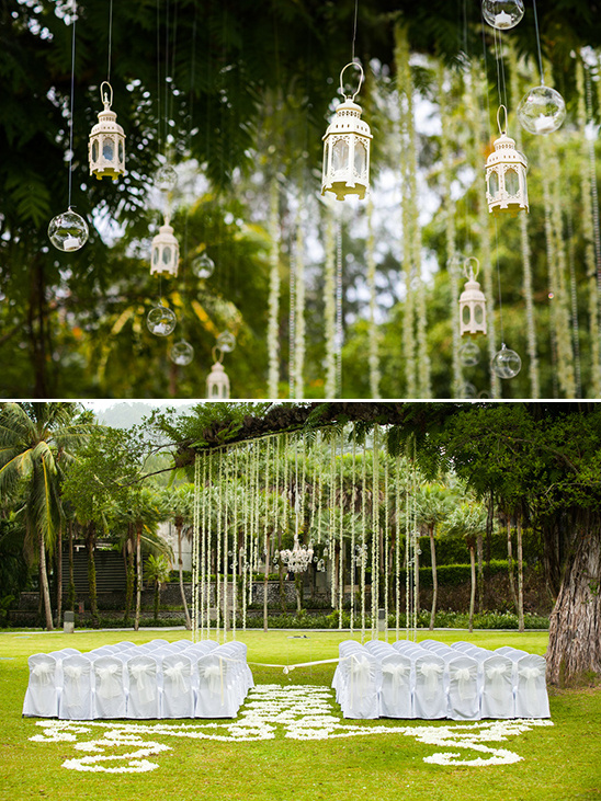 glamorous outdoor wedding decor