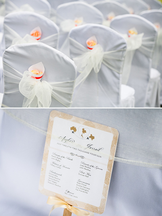 wedding confetti and program