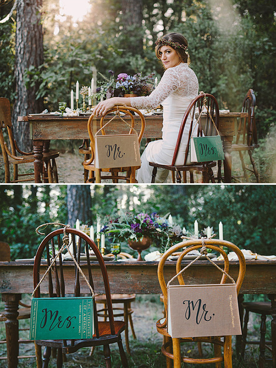 wedding sign chair ideas