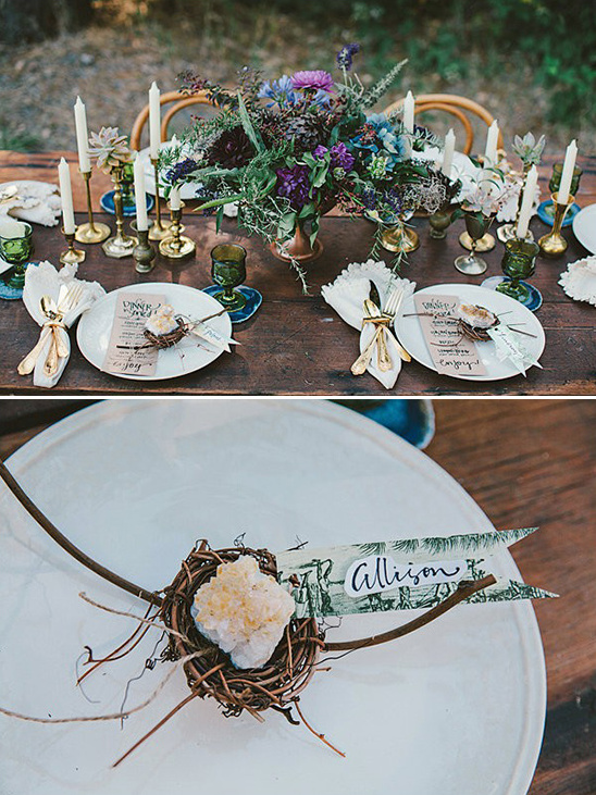birds nest amber escort cards