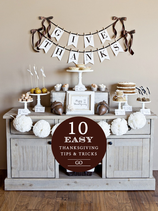 10 easy Thanksgiving tips