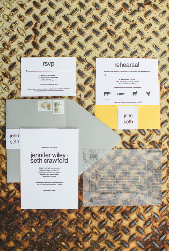 clean and simple wedding invitations