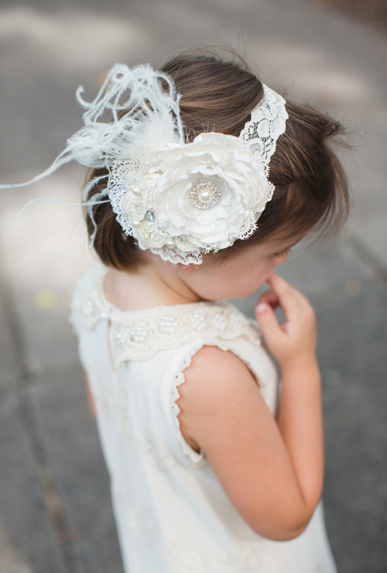 cute flower girl head band
