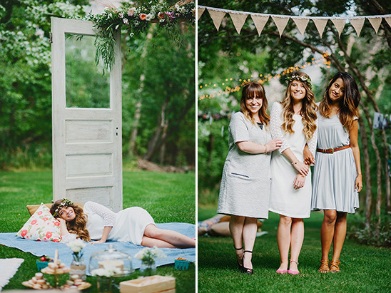 bride to be and maids of honor