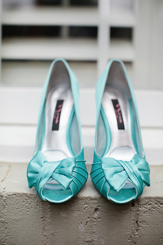 teal Nina wedding shoes