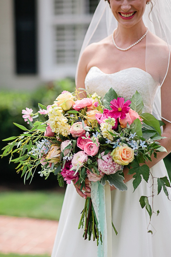 large pink and yellow bouquet