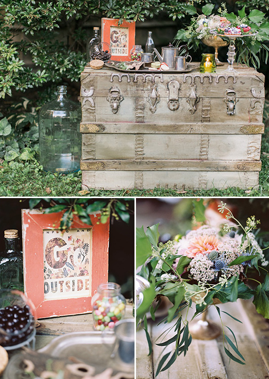use a trunk for a dessert table