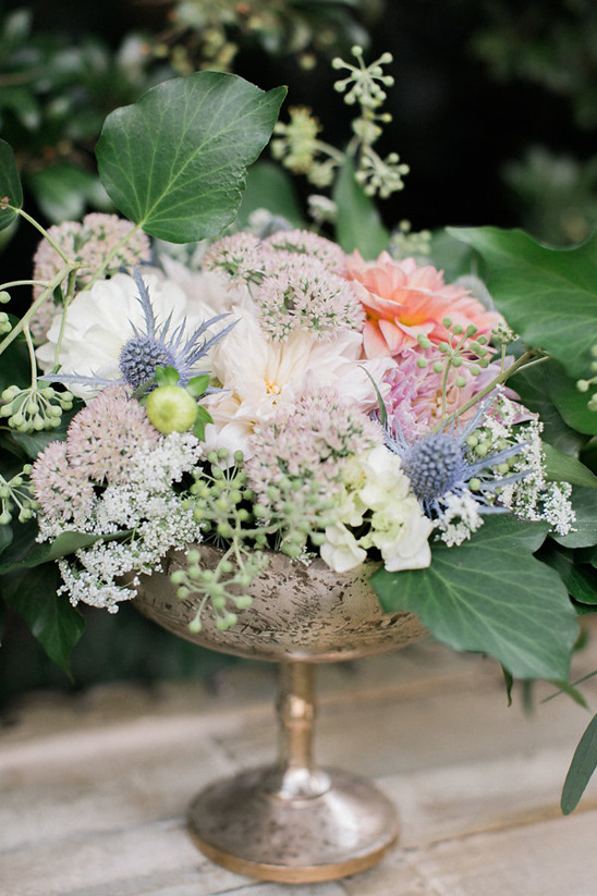 blue and pink centerpiece
