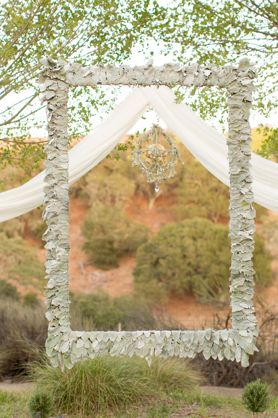 frame your wedding vows with a backdrop frame