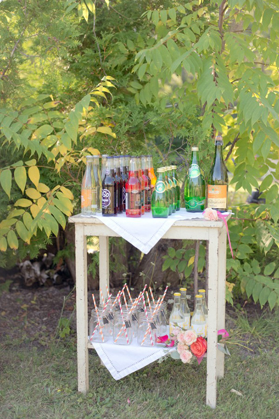 drink wedding station
