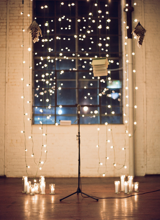 bistro light ceremony backdrop