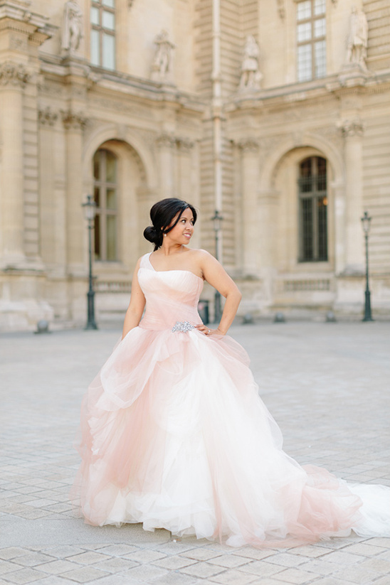 Vera Wang blush wedding gown
