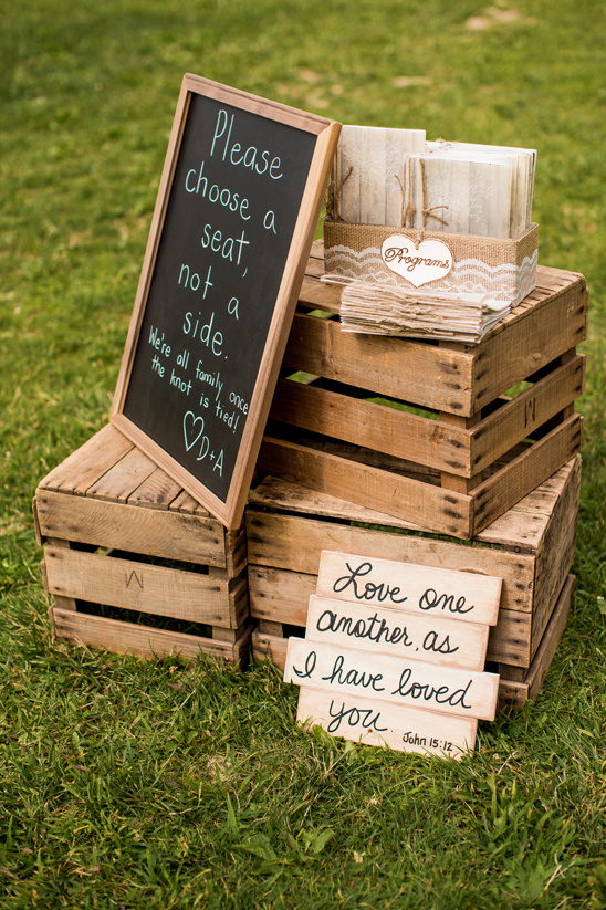 shipping crate wedding sign display