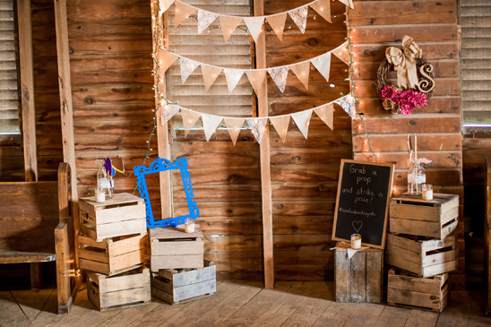 rustic photobooth backdrop